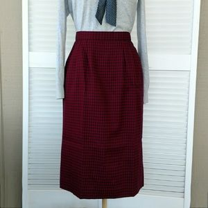 Pendleton virgin wool check plaid skirt pockets 8
